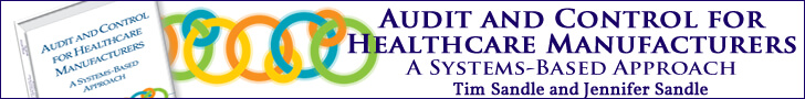Audit and Control for Healthcare Manufacturers: A Systems-Based Approach