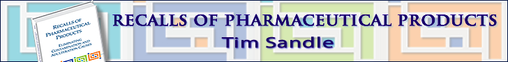 Recalls of Pharmaceutical Products: Eliminating Contamination and Adulteration Causes