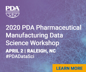 2020 PDA Pharmaceutical Manufacturing Data Science Workshop