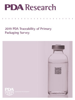 Cover of the PDA Research: 2019 Traceability of Primary Packaging Survey